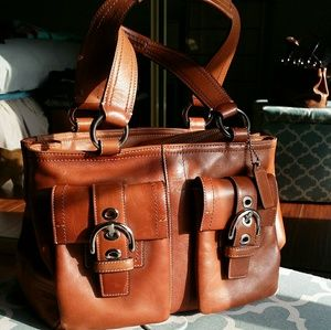 "Coach ""Soho"" Double Front Pocket Leather Bag"